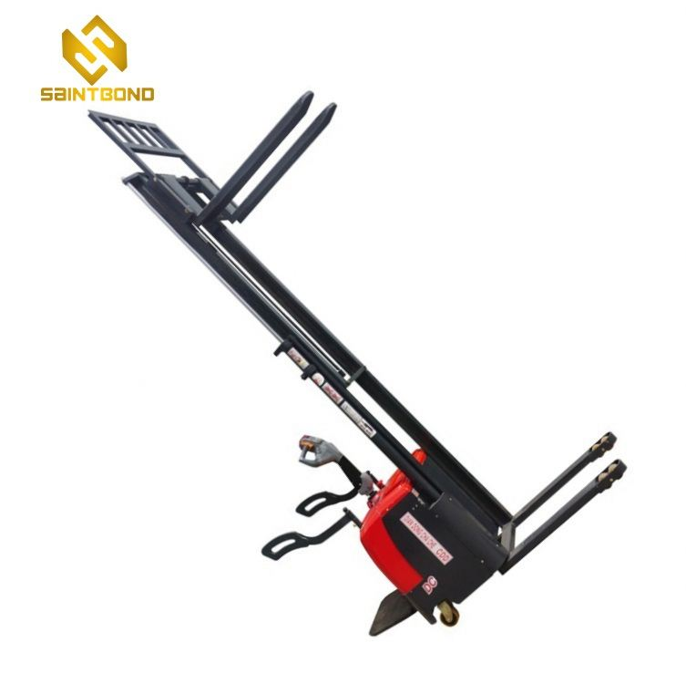PSES11 Elevator 1000kg 1 ton 2200Bls 3m 12 ft electric stacker battery walkie lifter forklift pallet stacker