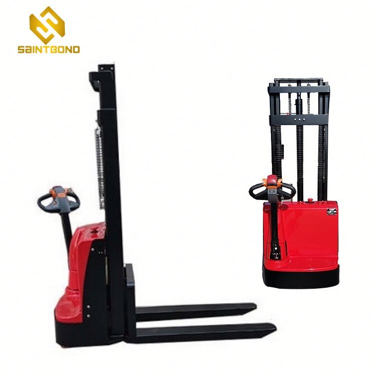 PSES11 2640lbs 118inch Capacity Electric Walkie Straddle Stacker forklift for US free shipping