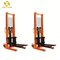 PSCTY02 hand materials 2200lbs 1ton Capacity 63inch lift height Hydraulic Manual Stacker with Straddle Legs