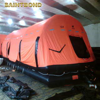 High quality ODM Rigid Open Reversible used fishing liferaft valise 6 man self-righting type inflatable life raft