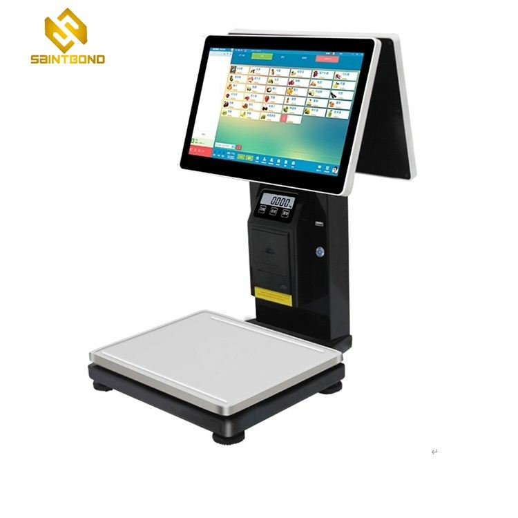 PCC01 Height adjustable 15.6 inch pos system supermarket pos touch screen w7