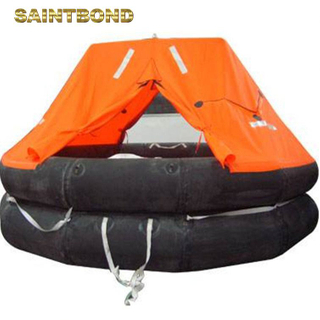 China ODM Self inflating Viking 25 marine with solas coastal life raft 6 100~125 person thrown over inflatable liferaft