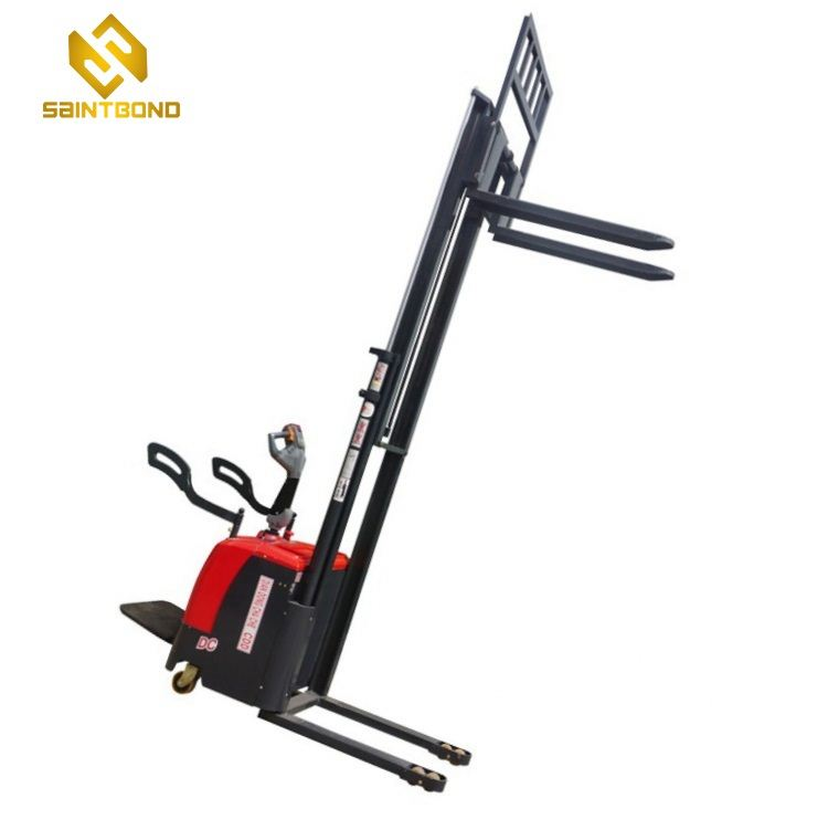 PSES11 China supplier 1.5 ton 2.5m 2500mm full electric stacker 1500kg electric pallet truck 3000bls battery forklift