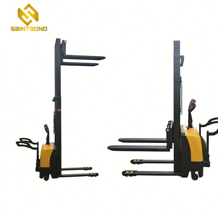 PSES11 China double forks forklift automatic stacker machines adjustable fork lift